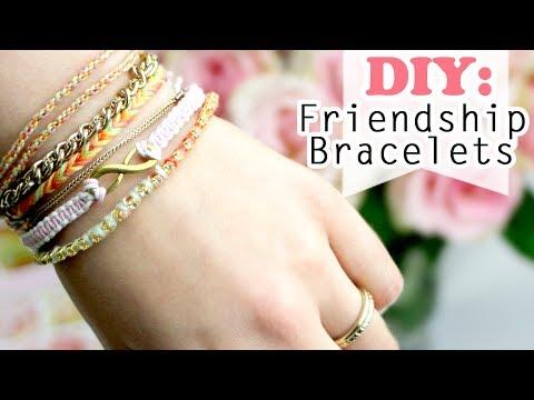 DIY: 4 Ways how to make Easy Friendship Bracelets - YouTube