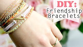 DIY: 4 Ways how to make Easy Friendship Bracelets