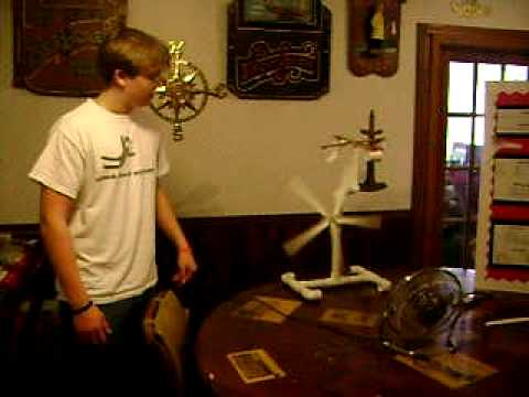 WIND ENERGY, BENCH SCALE - SCIENCE FAIR PROJECT 2009