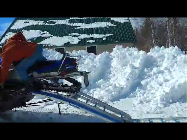 Snowmobile ramps