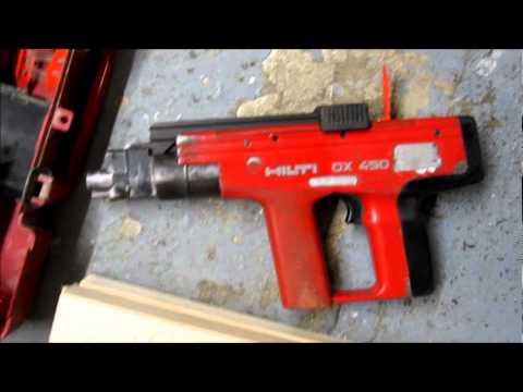 Array - firing a hilti dx450 into 70mm of timber   youtube  rh   youtube com