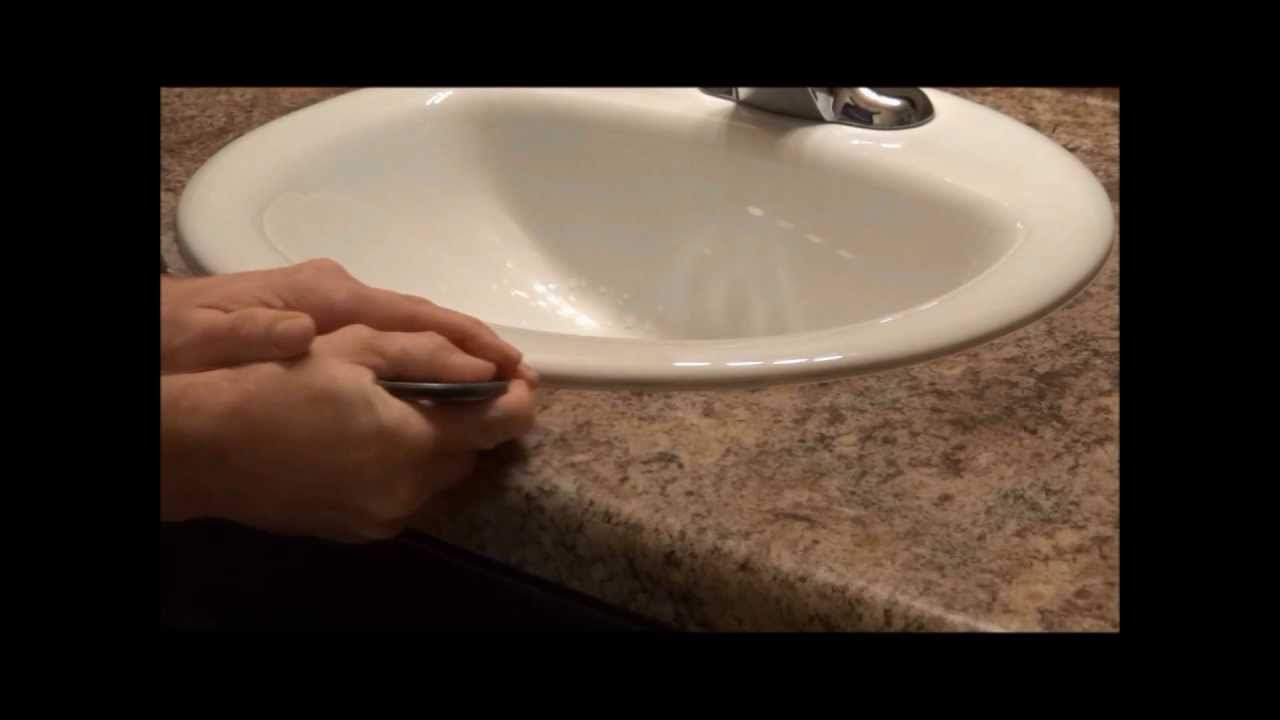 How to Caulk a Sink How a Pro does it  YouTube