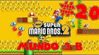 Guia de New Super Mario Bros 2 [100%] Parte 20 | Mundo 3-B