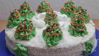 Торт на Новый год / Елки / Новогодние рецепты /Украшение тортов