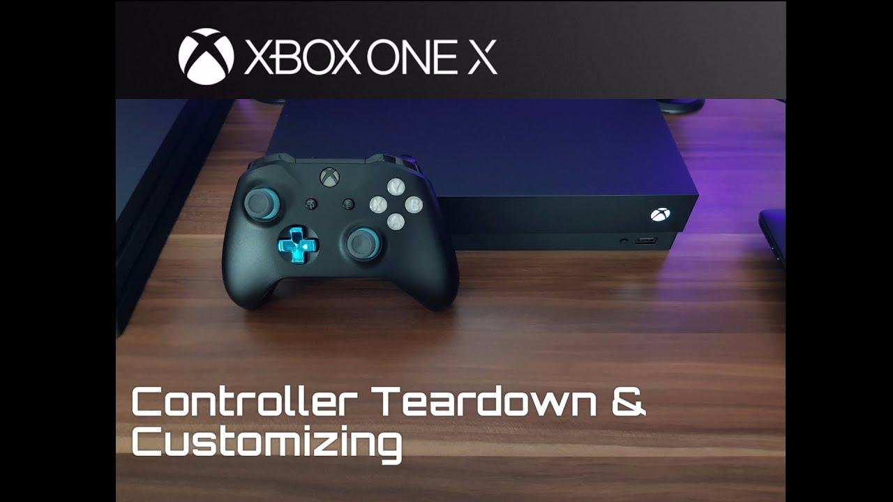Xbox One X Controller Teardown, D-pad, Thumbstick & ABXY button change