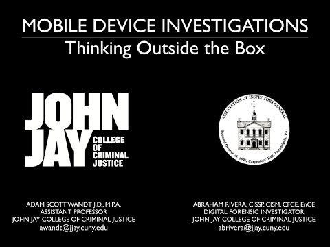 Mobile Device Investigations