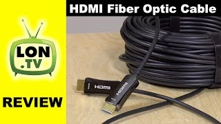 98 Foot / 30m HDMI Cable with Integrated Fiber Optics ! ATZEBE HDMI Active Optical Cable Review