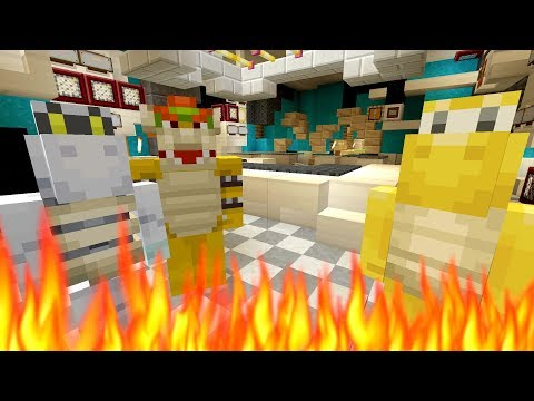 *OMG* WHO SET THE HOUSE ON FIRE?!  Nintendo Fun House  Minecraft Switch 276