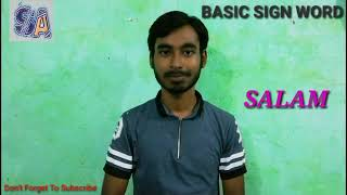How to Learn Indian Sign Language (Basic Word) Part 7 With Kamrul. By Soif Ali