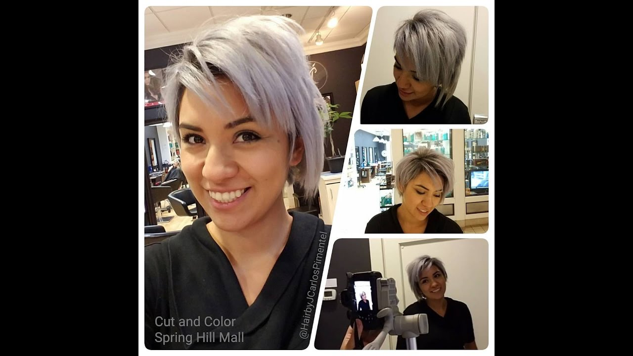 How To Dye Your Hair Silver Grey Youtube