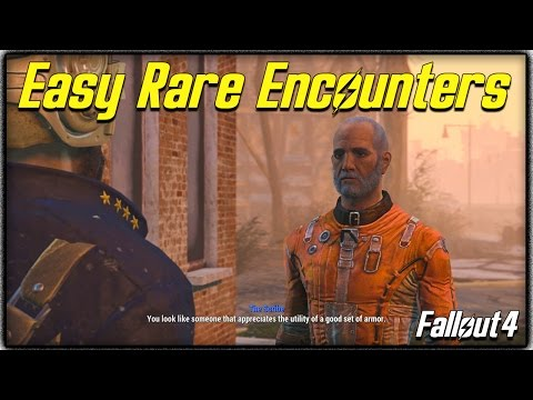 "Fallout 4 ""Unique Encounters"" Guide! How to get Rare Traders + Other Special NPCs Easily!"
