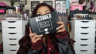 OCTOBER BOXYCHARM UNBOXING 2016 + OFRA HIGHLIGHT GIVEAWAY