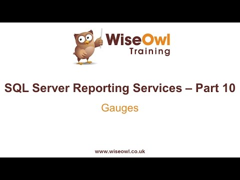 Reporting Services (SSRS) Part 10 - Gauges