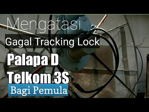 Mengatasi lock tracking Palapa D dan Telkom 3S Gagal Tidak Menyatu