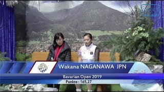 長縄和奏 / Wakana NAGANAWA (JPN)  Bavarian Open 2019 Junior Ladies I - FS - February 7, 2019