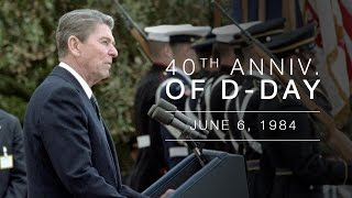 Normandy Speech: President Reagan's Address Commemorating 40th Anniversary of Normandy/D-Day  6/6/84