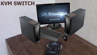 Подключение 2х компьютеров к 1му монитору KVM SWITCH Unboxing - [Life Situations]