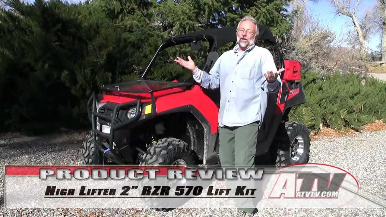 "Polaris Rzr >> ATV Television - High Lifter 2"" Polaris RZR 570 Lift - YouTube"