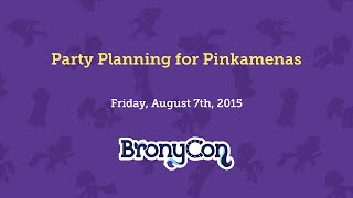 Party Planning for Pinkamenas