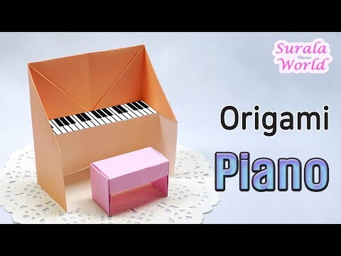 Piano Origami (Easy, How to make a paper piano, DIY)