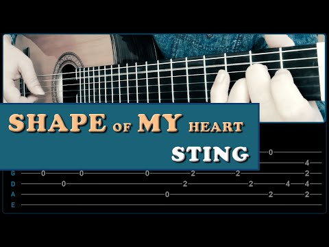 SHAPE  OF MY HEART Sting Fingerstyle Guitar Cover With TABS !!!