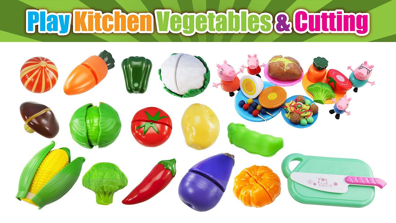 Learn Names Of Vegetable Velcro Cutting Toy Food