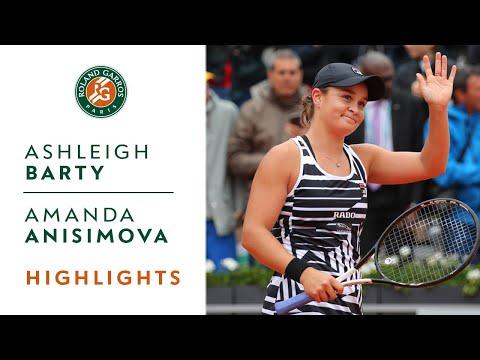 Ashleigh Barty vs Amanda Anisimova - Semi-final Highlights | Roland-Garros 2019