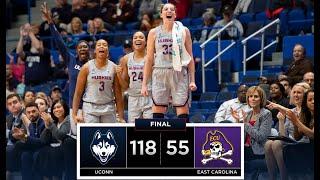 UConn Womens Basketball Highlights V. ECU 02062019