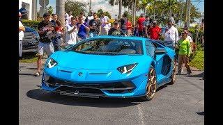 World's Greatest Supercars BLASTING at The Miami BEST Supercar Event Exotics & Espresso