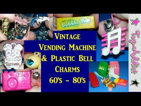 Vintage Vending Machine Charms HUGE Lot 60's-80's ~ Guns, Plastic Bell Charms, Ratfink, TEETH