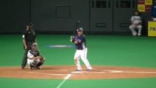 2017/4.1の札幌ドームの日ハム-西武の西武の9回表の攻撃です 田代が繋い...
