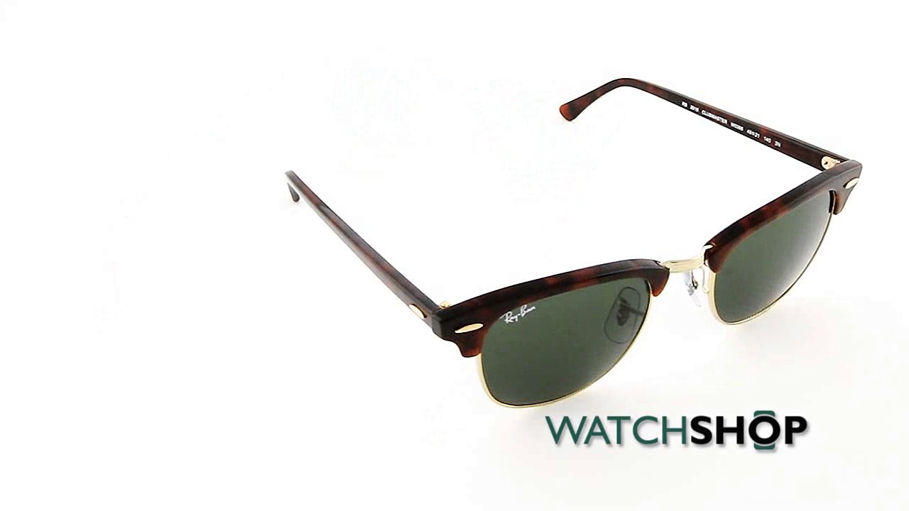 b1d2d08d2a7f Ray-Ban Men s Clubmaster Fleck Sunglasses (RB3016-W0366-49) - YouTube