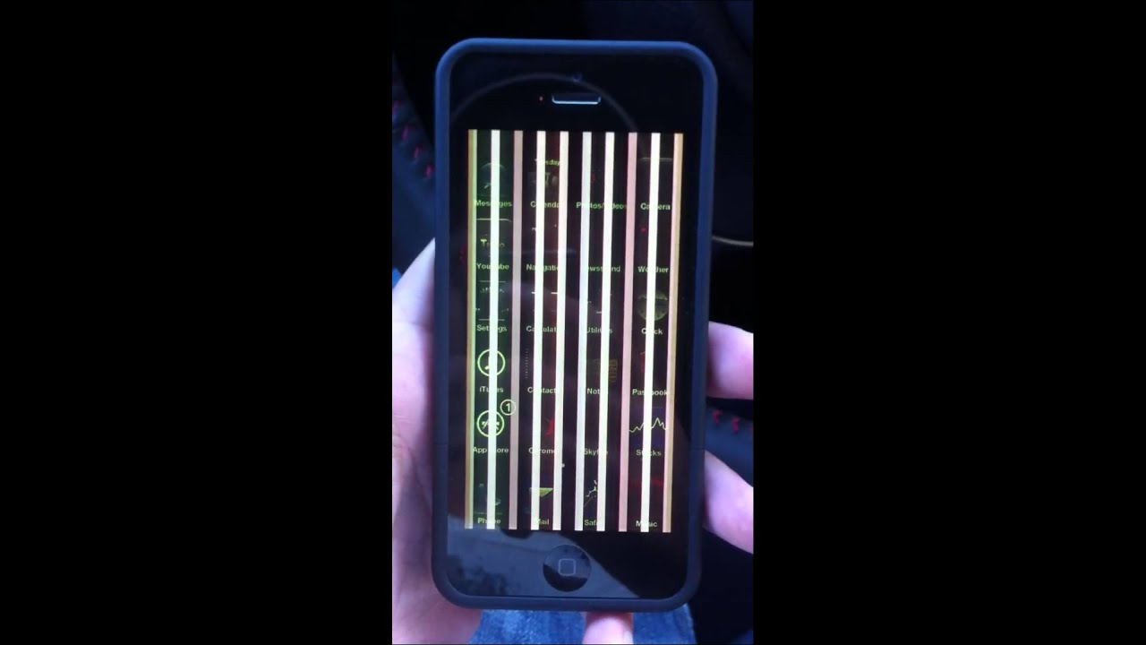 vertical lines on iphone screen iphone 5 screen defect 8059