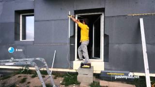 Orezavanie polystyrenu okolo okna / Spaleta / Trimming around the windows of polystyrene / reveals