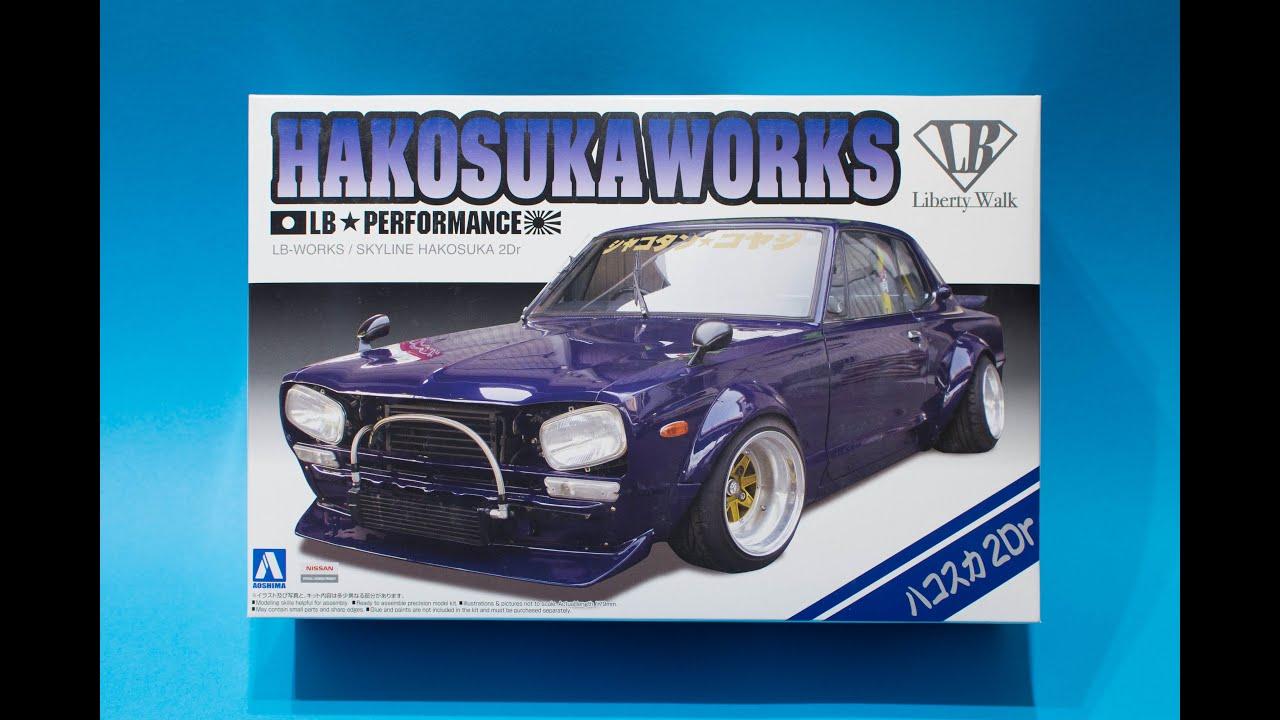 2 Aoshima 1//24 Liberty Walk Model Car Kit LB Works Skyline C110 KenMary 2Dr