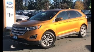2016 Ford Edge SEL W/ Heated Seats, Backup Camera, Trailer Hitch Review| Island Ford
