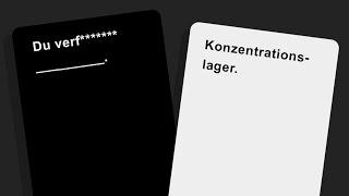 Der Humor muss schwärzer!  🎮 Cards Against Humanity
