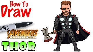 How to Draw Thor | Avenger Infinity War