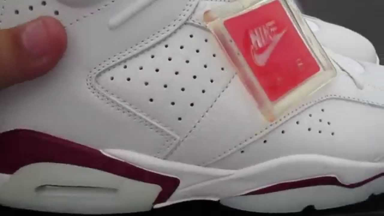 more photos fde19 edc48 Authentic Offical Nike Air Jordan 6 Maroon Review - YouTube