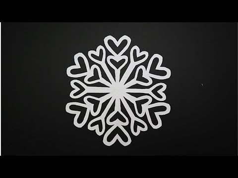 DIY Paper Heart Snowflake | How to Make a Paper Snowflakes | Paper Christmas Decorations