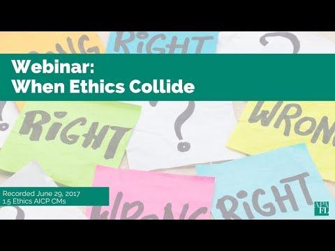 APA Florida Webinar: When Ethics Collide
