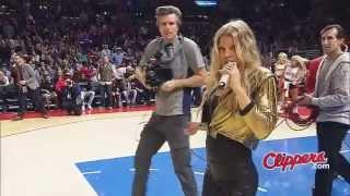 LA Clippers, surprising performance by Fergie, Steve Ballmer