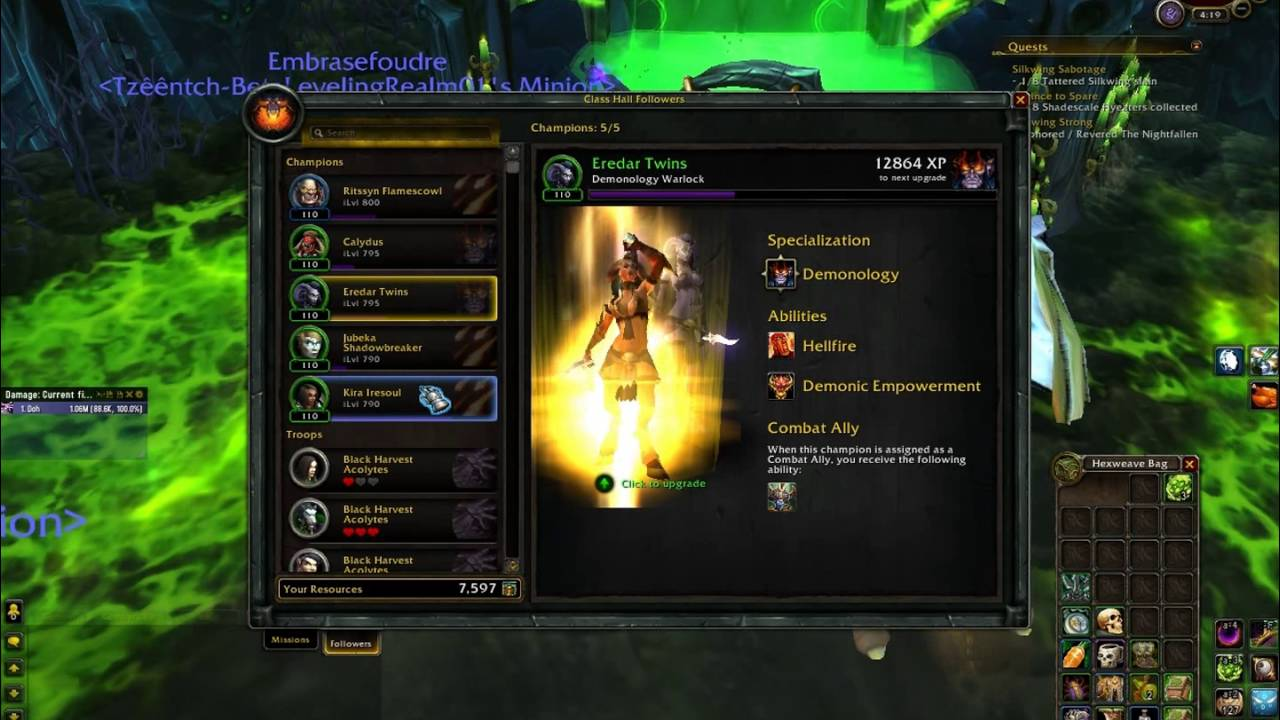 Order Hall Upgrading Followers Follower Items A Rare Mission Youtube