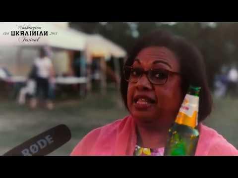 Excited guest from Panama on WASHINGTON UKRAINIAN FESTIVAL