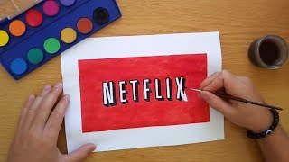 How to draw the old Netflix logo (Logo drawing)