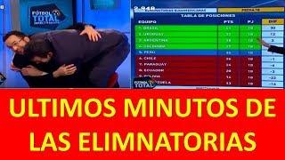 UTLIMOS MINUTOS DE LAS ELIMINATORIAS SUDAMERICANAS   !!!