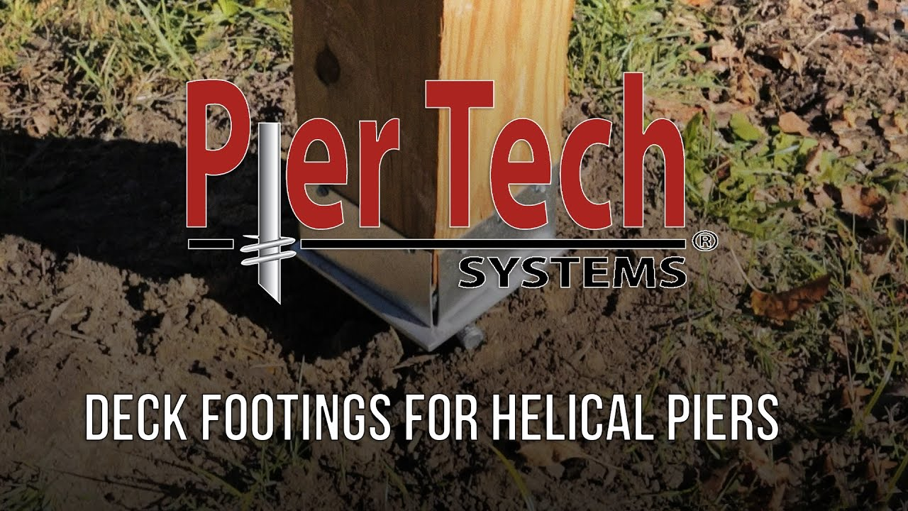 Deck Footings with Helical Piers