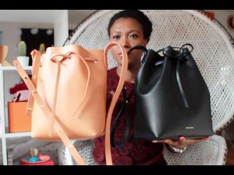Mansur Gavriel Mini Bucket Vs Regular Bag