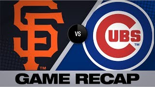 Rizzo homers twice in Cubs' 5-3 win | Giants-Cubs Game Highlights 8/20/19