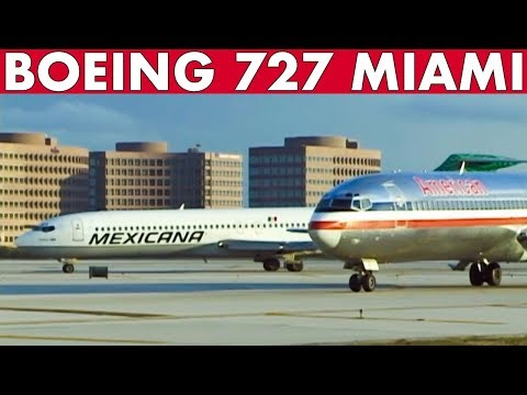 BOEING 727s At Miami (1998) 22 Airlines!!